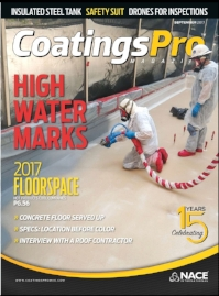 CoatingsPro Magazine Cover Of Issue Containing Feature Article About Premier Veneers' Award-Winning Acid-Stained Concrete Flooring Project