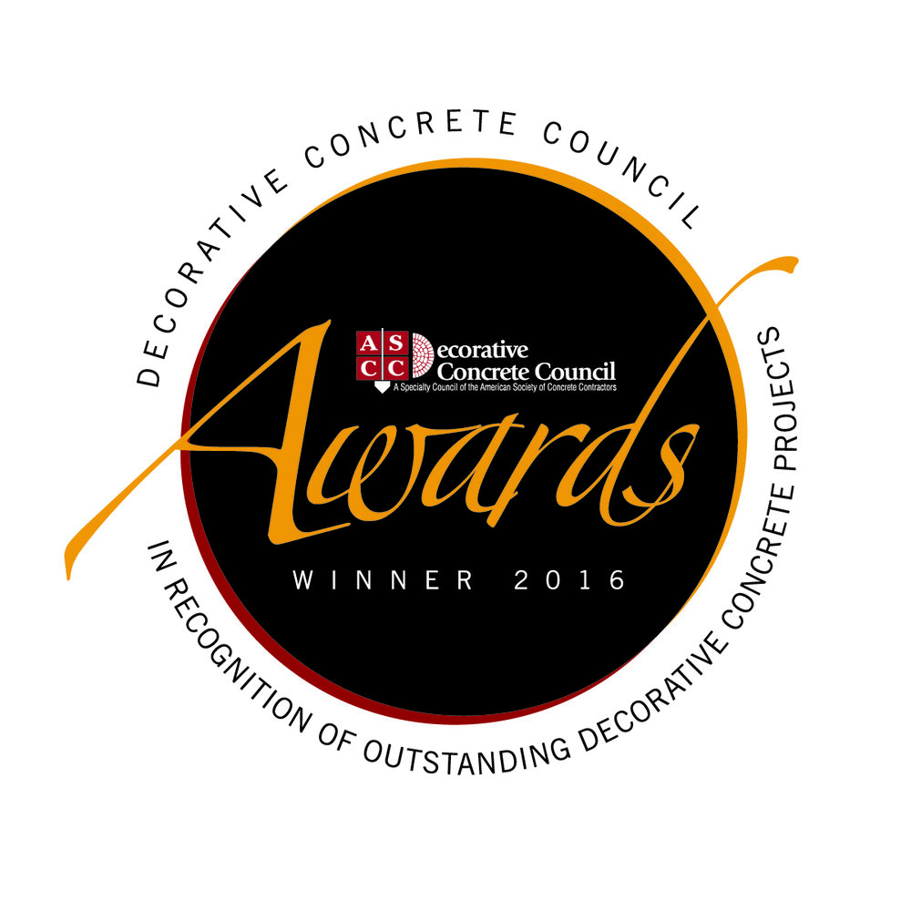 Decorative Concrete Council 2016 Project Awards Winner's Badge/Logo