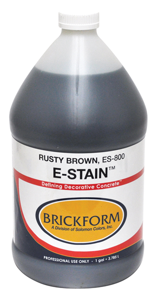 "Brickform E-Stain is an eco-friendly acid stain that is considered ""non-hazardous"" and has no harmful fumes."