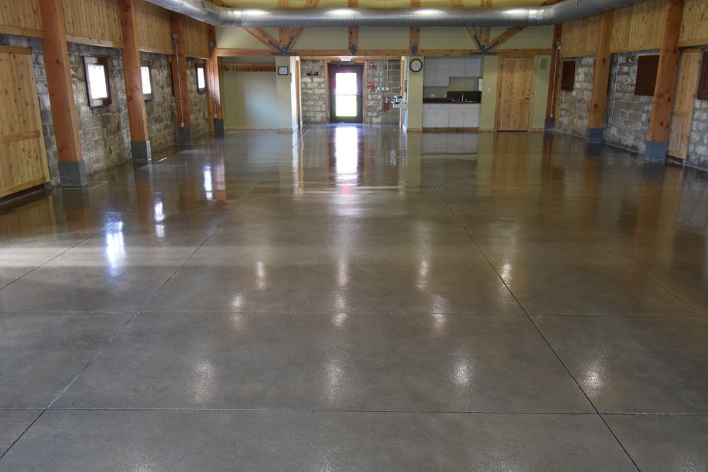 Museum Concrete Floor Restored After Coating With Clear Polyurea Sealer