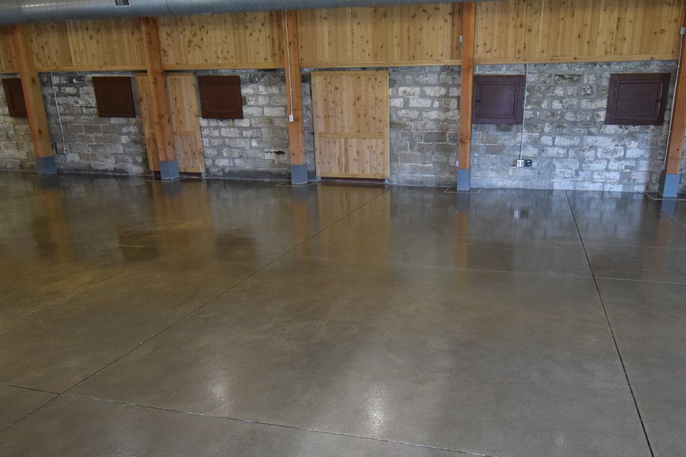 Museum Concrete Floor After Coating With Clear Polyurea Sealer