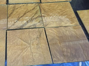 "These four 10""-square sample boards were prepared with metallic epoxy at an iCoat products training seminar in Buffalo, NY, in September 2015.  They show the unique 3D, iridescent flowing effects characteristic of this new flooring system."