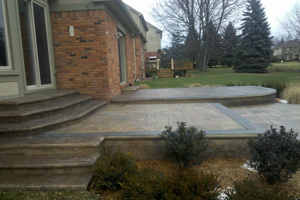 Concrete Patio After Pressure Washing