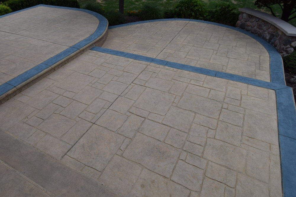 Acid-Stained Thin Cement Overlay of Concrete Patio