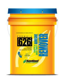 Sentinel 626 is a water-based carpet and sheet vinyl adhesive remover. Sentinel Products has been around for over 55 years and has some of the best carpet glue stripping products available.