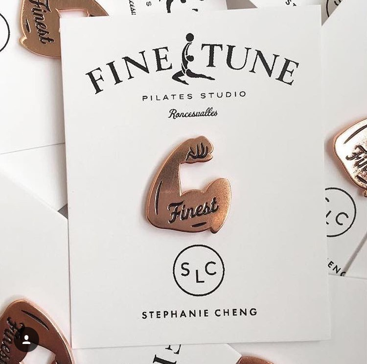 Finest Pins by Stephanie Cheng - $10 Adorn your denim, favorite tote or display item of preference with this bronzed pin designed by our friend, Stephanie Cheng.