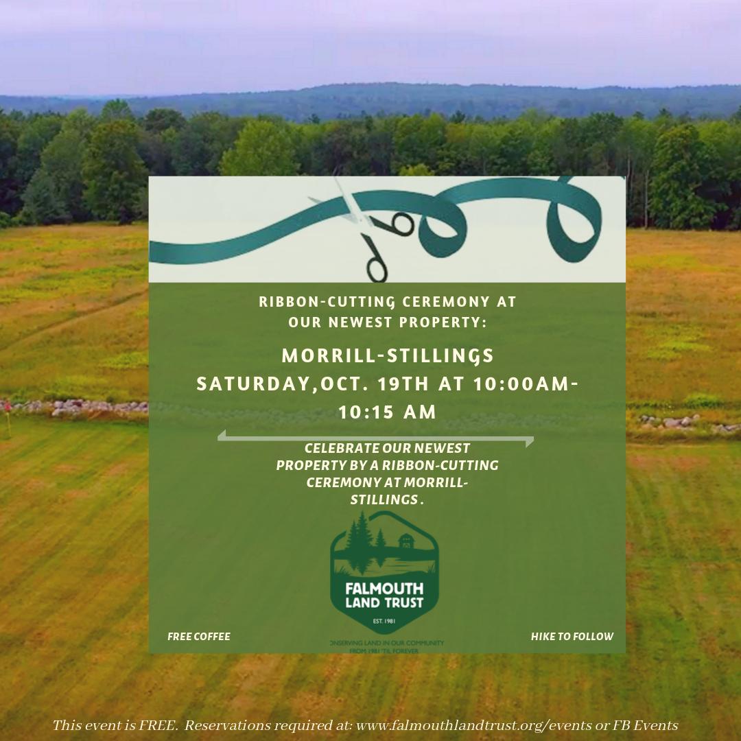 Ribbon- Cutting Ceremony at Morrill- Stillings Farm