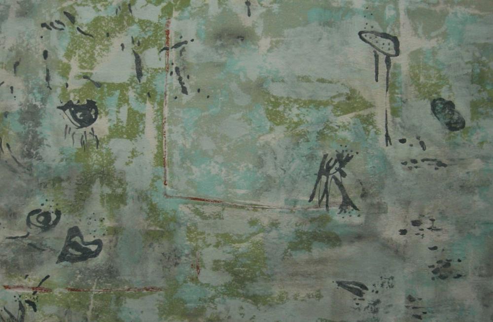 "Coexist II | 31""h x 47""w | Acrylic On Canvas | SOLD"