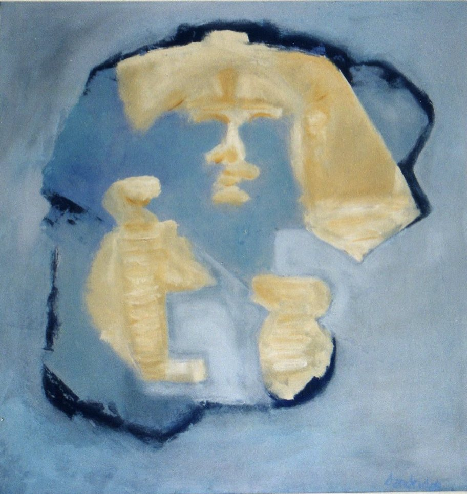 "Fragmented Pharaoh | 58""hx56""w | Acrylic On Canvas | $5000"