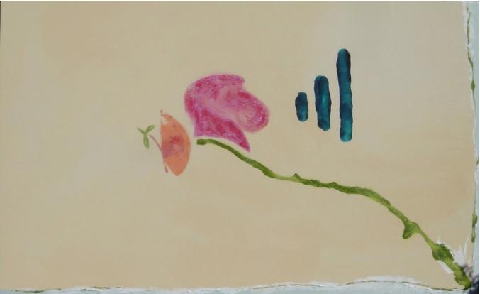 "Listen | 34""h x 54""w | Acrylic On Canvas | SOLD"