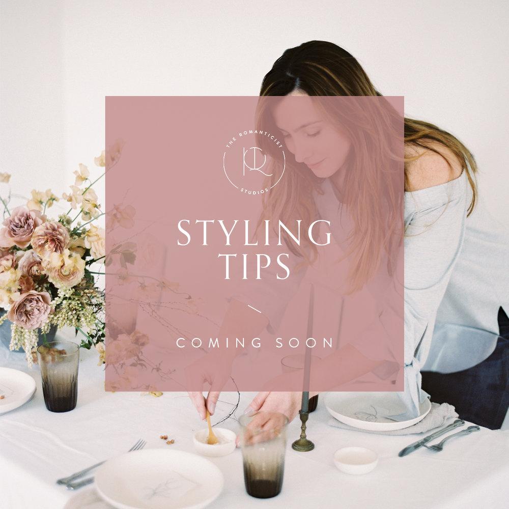 Styling Tips - Shop Romanticist