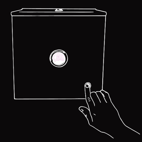 FOUR - Press the button to light up your art in the Glory Hole,