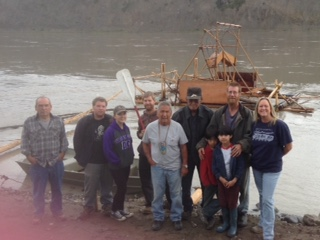 Some students & community members who helped build the fish wheel.