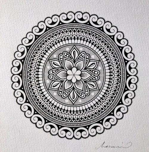 Original A4 Mandala 13 Macromicro Art