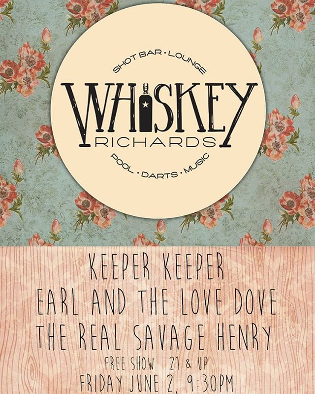 Playing a free show this Friday at @whiskeyrichards_sb with @keeperkeeperpdx and @thereal_savagehenry, come get your groove on!