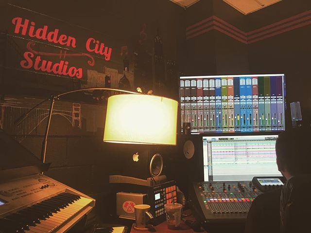 Tracked live all yesterday at @hiddencitystudios