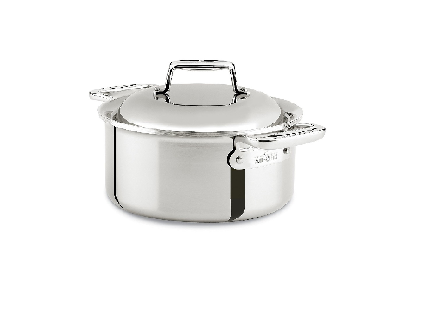 585e9ac0fe5e All-Clad SD7530356 D7 18/10 Stainless Steel 7-Ply Round Oven Dutch Oven,  3.5 Quart