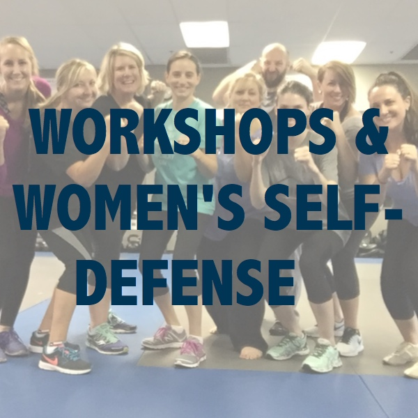 Click to learn more about our workshops, seminars and women's self-defense programs.