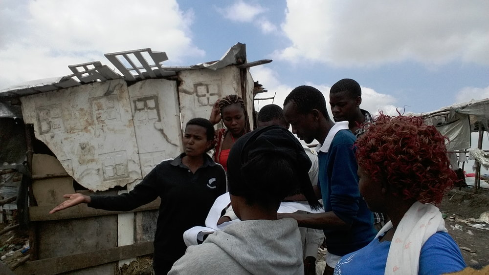 The Mukuru Kwa Reuben profiling team, maps out structures and services in the settlement.