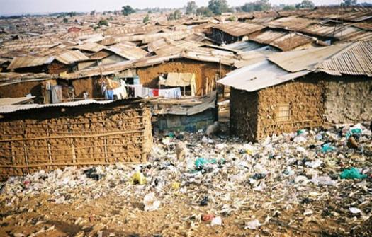A slum in Kibera