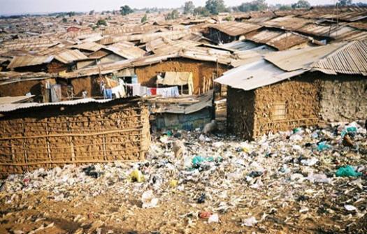 A slum in Kibera