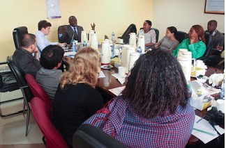 Nairobi Studio team at the KENSUP/Slum Upgrading offices.