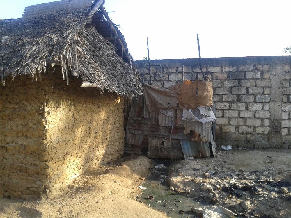 A dilapidated sanitation facility