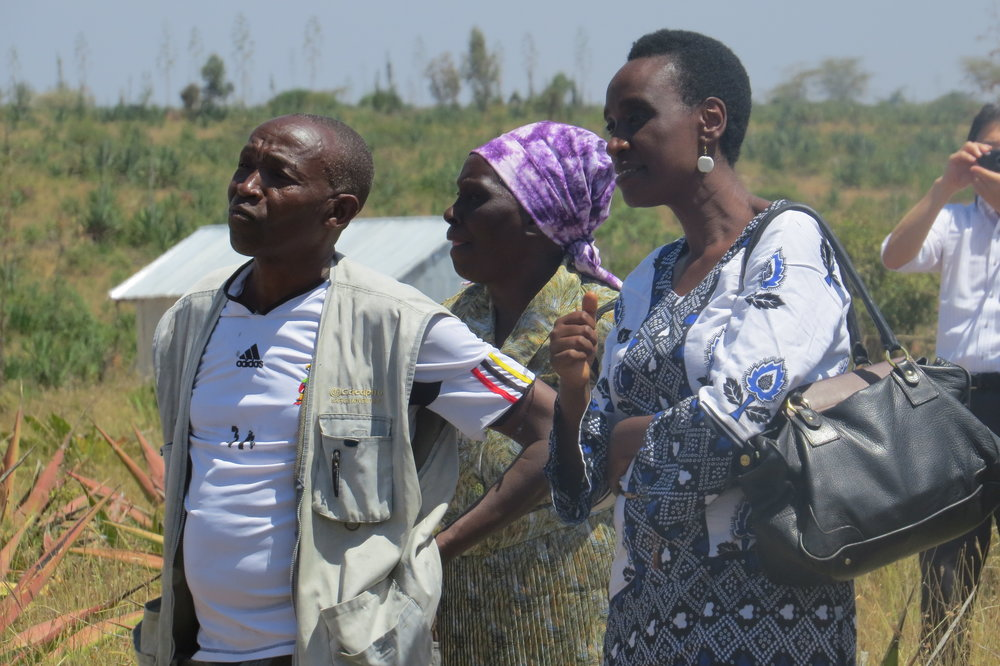 Jane Weru Director AMT and some the beneficiaries witness the ground breaking ceremony.