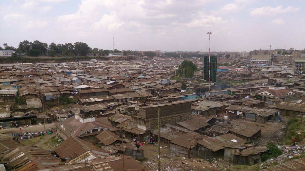 Mathare settlement Aerial view