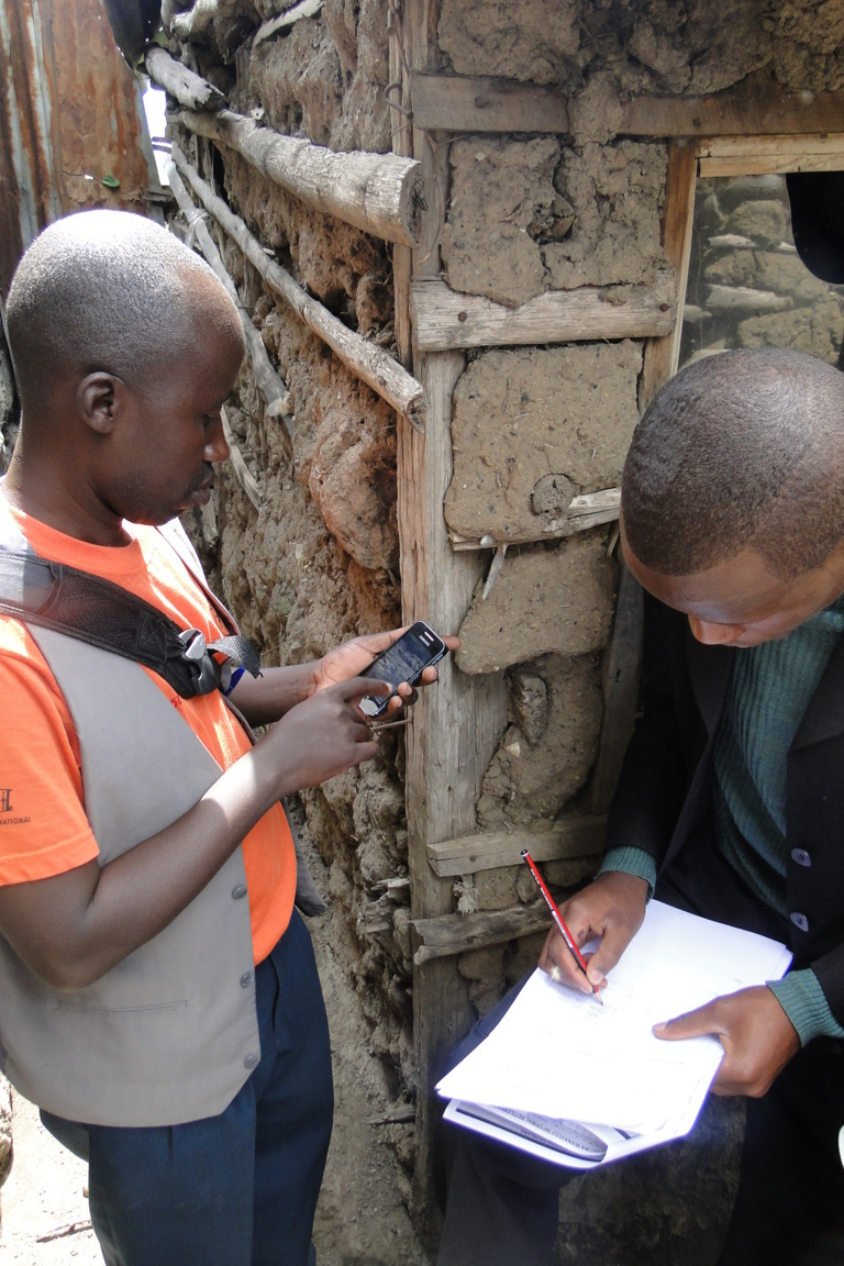 A community profiling team at work in Nakuru County