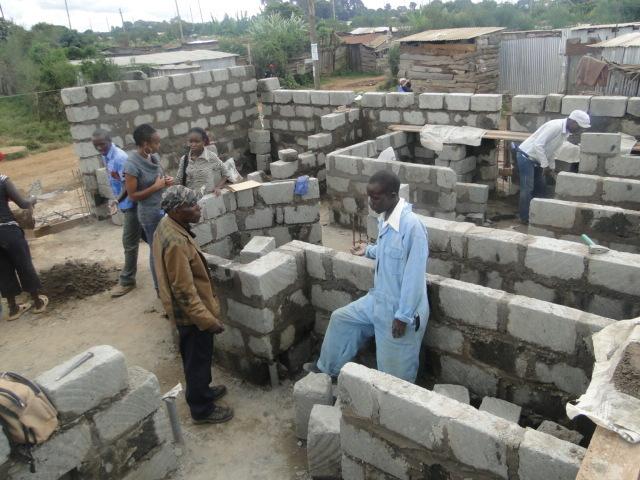 Construction of site 2: Molo Sanitation Ablution Block