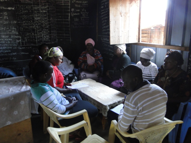 A savings group meeting in Kiandutu