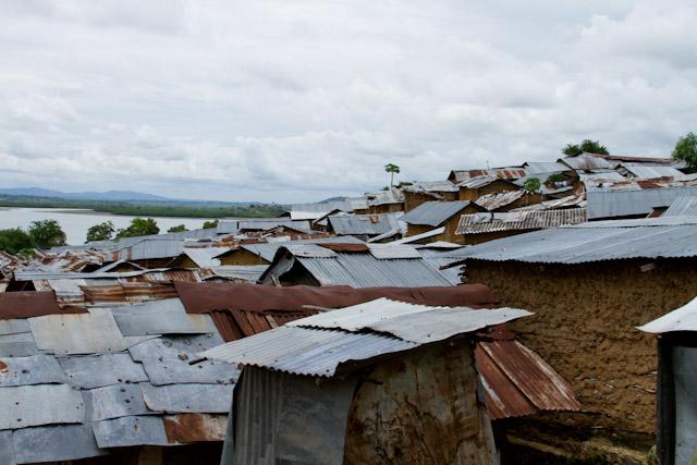 A slum in Mombasa