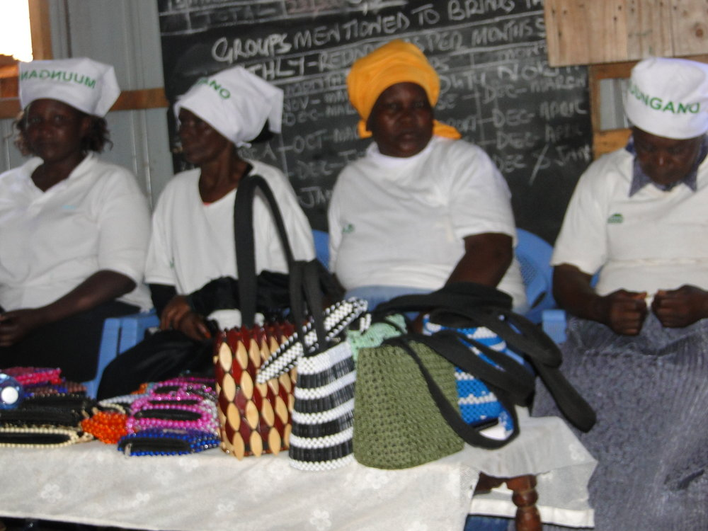 Some of the products produced by the Muungano women in Kiandutu through the Cottage Industry Initiative