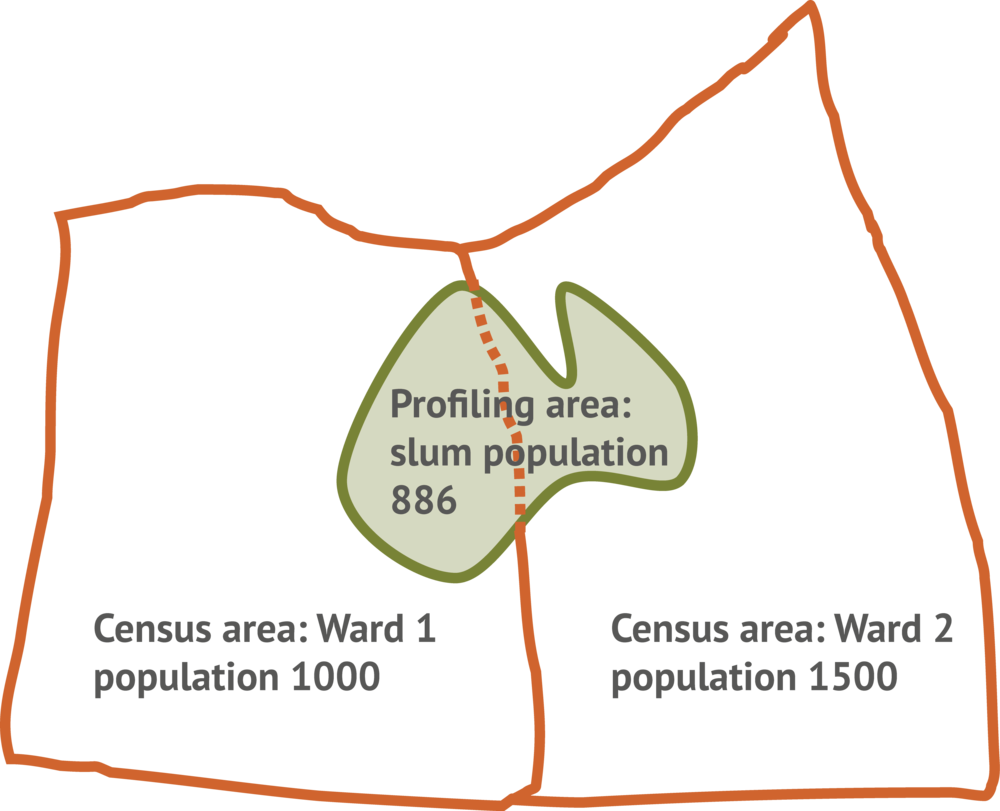 Relationship between a census, and informal settlement profiling