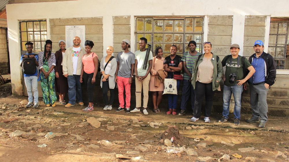 Second Global Learning Exchange participants on a field visit to Mukuru informal settlement, Nairobi.