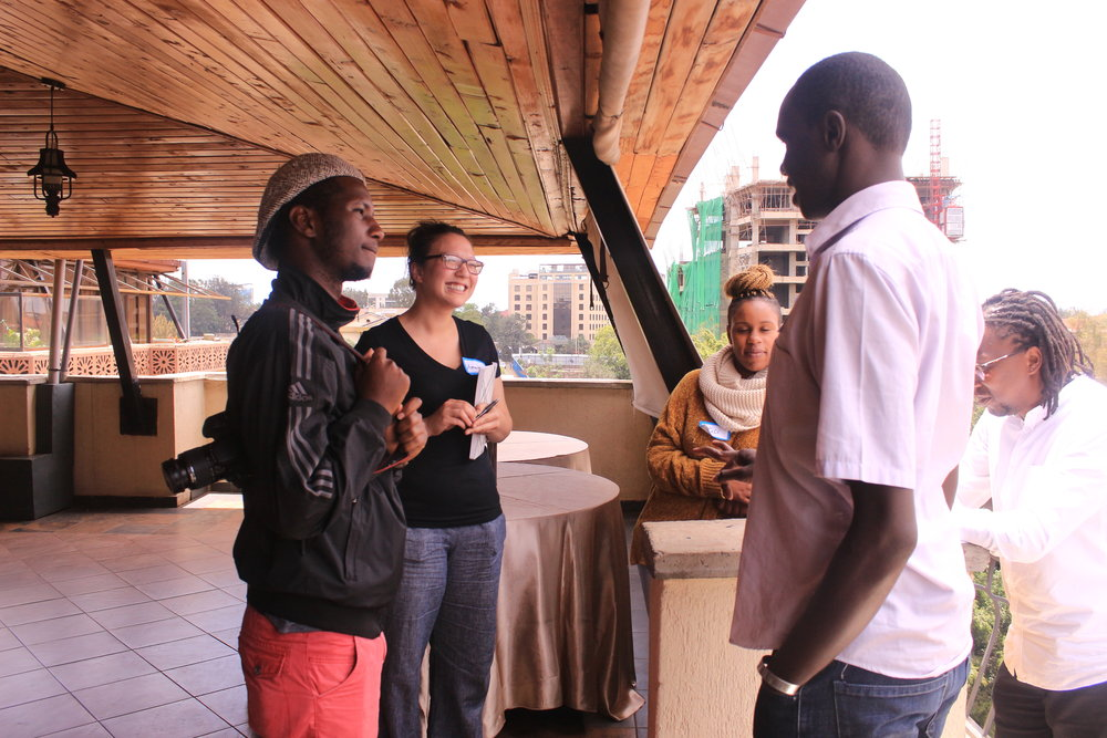 Participants engaging in a group discussion at the workshop.