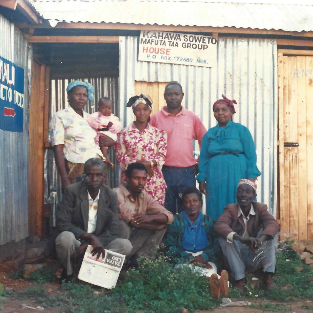 Kahawa Soweto savings group, in the late 1990s. Photo: Anastasia Wairimu