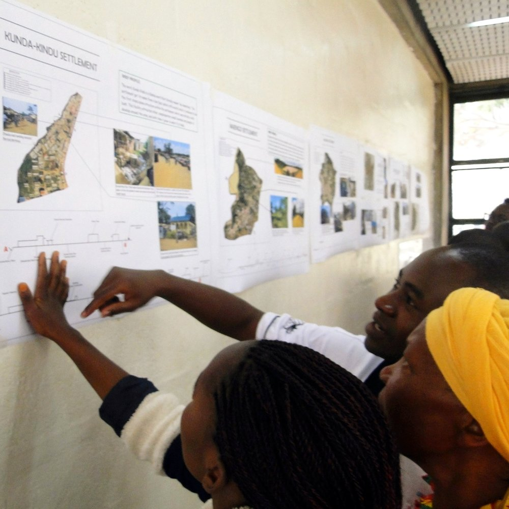 Community from Thika planning their settlement at the University of Nairobi. Photo: SDI Kenya