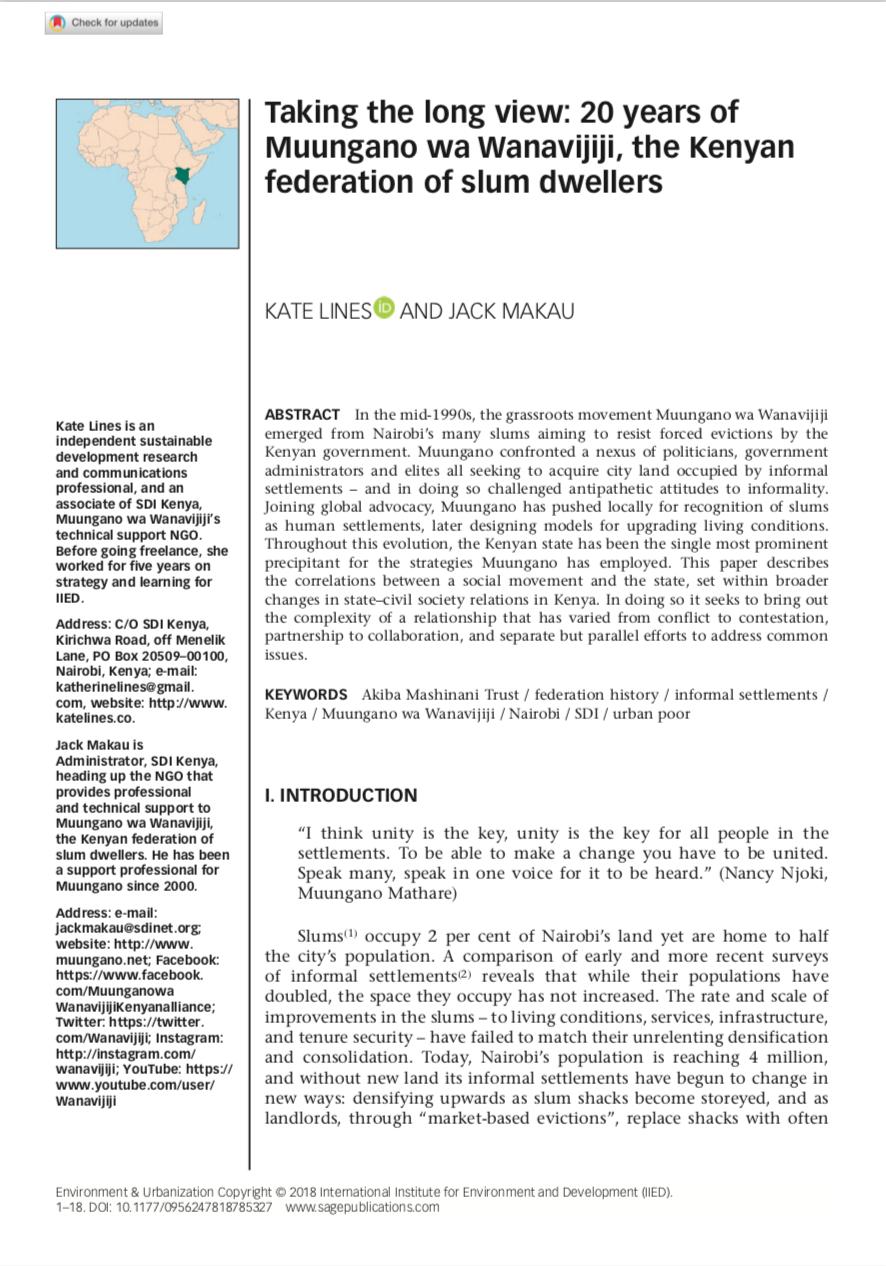 Environment & Urbanization article -