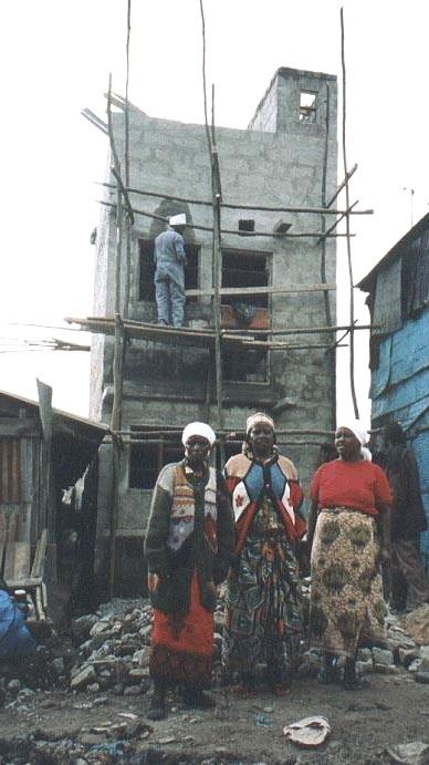 2002: Muungano's first slum upgrading process in Huruma, Kambi Moto, learning from other SDI federations and working with Nairobi City authorities. Source: Muungano wa Wanavijiji