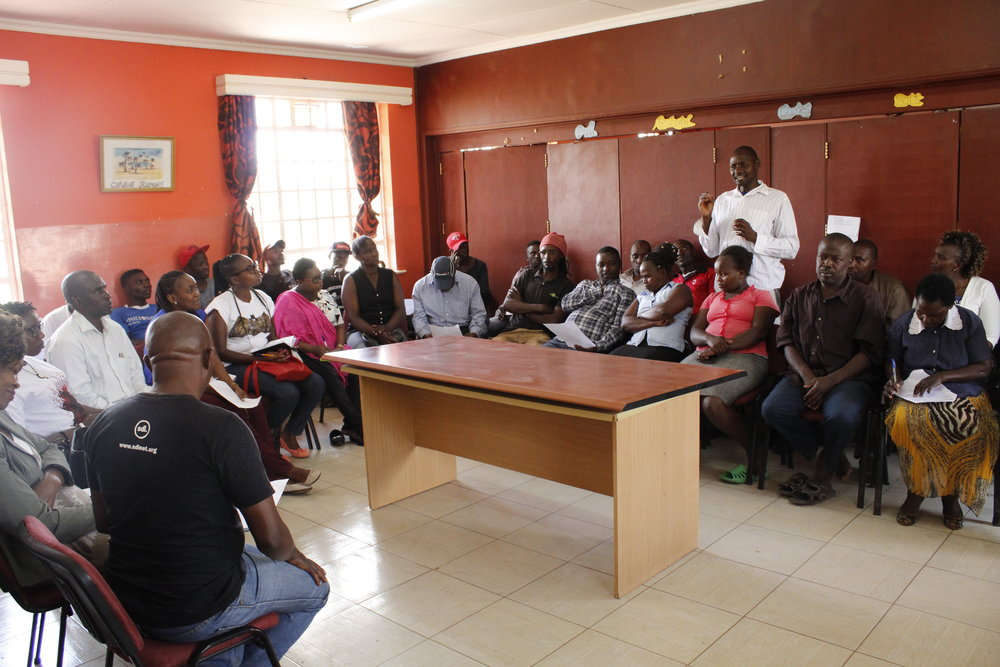 Discussing the survey findings and what happens next. Photo: Muungano Know Your City TV