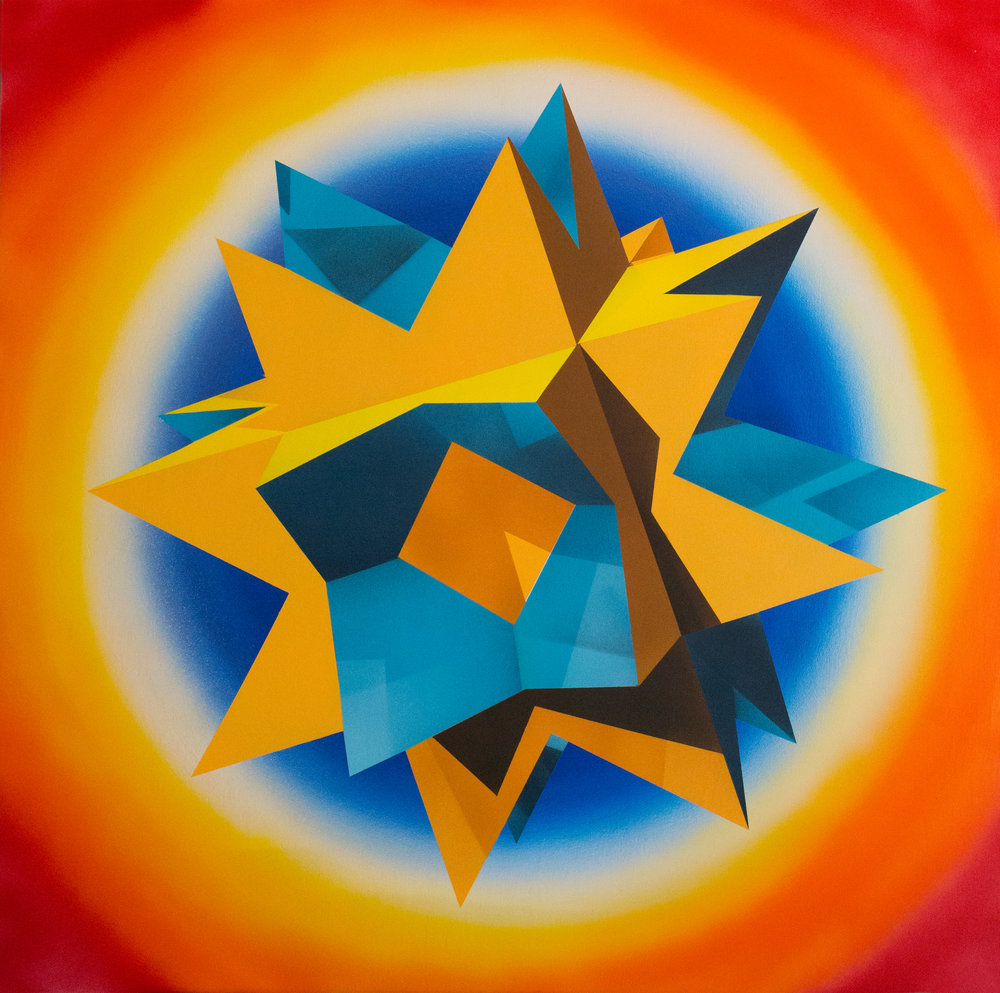 Rotating Star, Acrylic on Canvas over Panel, 36 x 36 inches, 2018.jpg