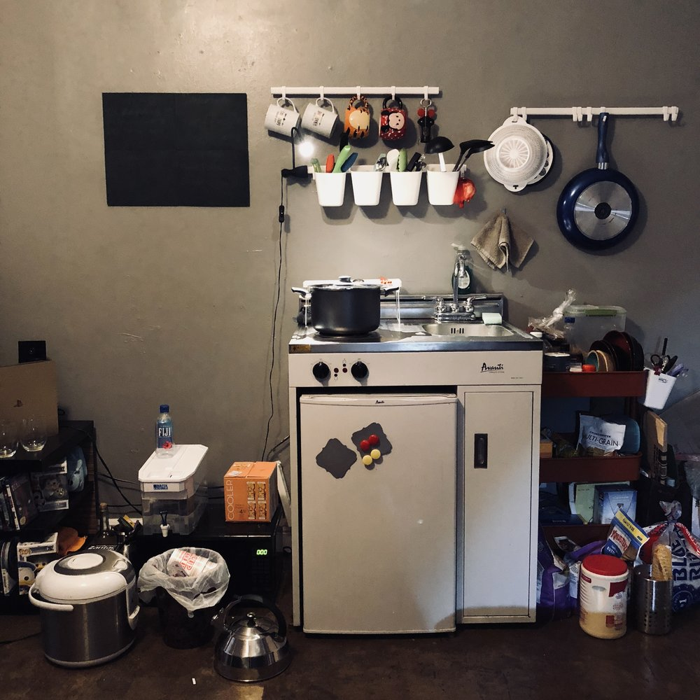 Our little kitchenette.
