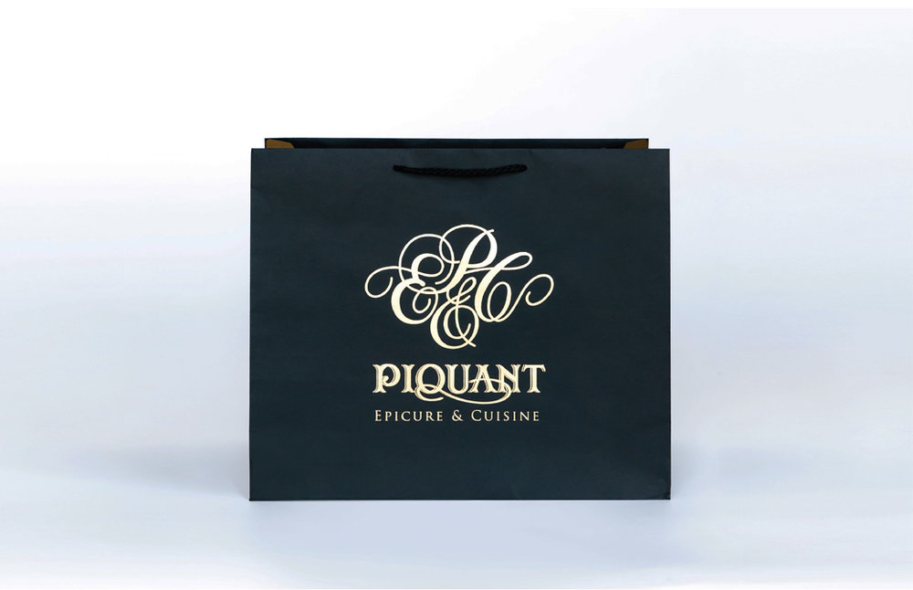 Piquant Carry Out Bag with Logo Front