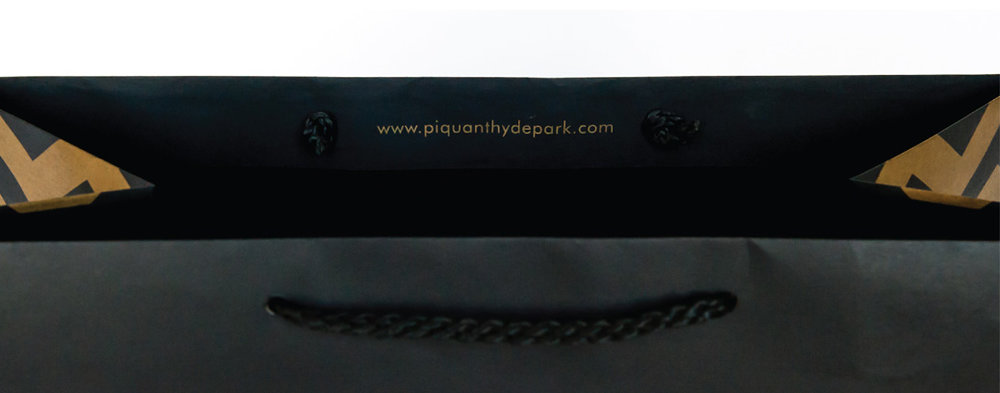 "Piquant Carry-Out Bag Interior Detail, ""www.piquanthydepark.com"""
