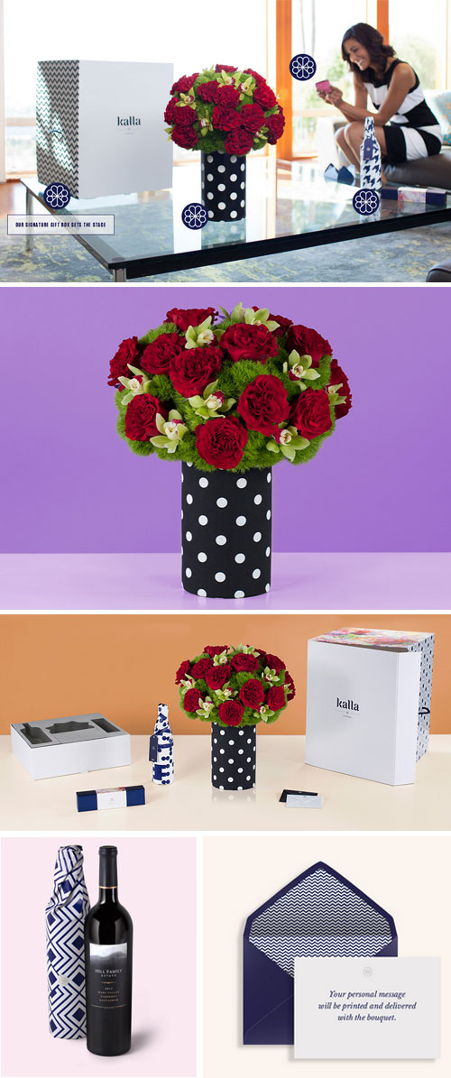 Kalla Flowers in Living room, Kalla Isolated, Kalla Flowers with Packaging Suite, Kalla Wine Bottle Packaging, Kalla Envelope