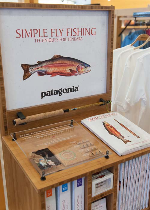 Simple Fly Fishing in Store Display Close up