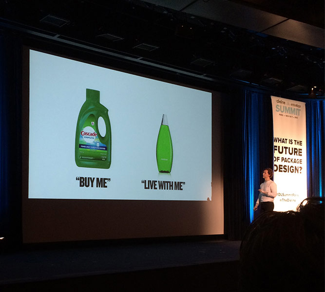 "Future of Packaging Presentation, ""Buy Me"" Cascade Dish Washing Soap vs. Method ""Live With Me"" Soap"