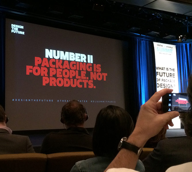 "Future of Packaging Presentation, ""Packaging is for people. Not Products."""